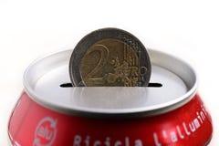 Euro dei soldi di risparmio Fotografie Stock Libere da Diritti