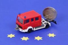 Euro del coche de bomberos Imagenes de archivo