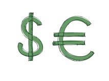 Euro del dólar del vector ilustración del vector