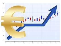 Euro del diagramma di affari Immagini Stock Libere da Diritti