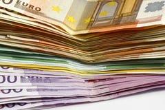 Euro del dinero Foto de archivo libre de regalías