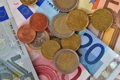 Euro del dinero Fotos de archivo libres de regalías
