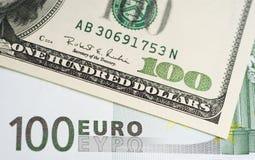 Euro del dollaro Immagini Stock