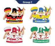 Euro 2016 del gruppo C Fotografia Stock Libera da Diritti