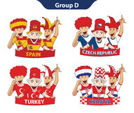 Euro 2016 del gruppo D Fotografia Stock