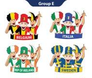 Euro 2016 del gruppo E Immagini Stock Libere da Diritti
