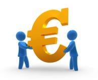 Euro del mantiene Imágenes de archivo libres de regalías