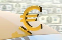Euro del oro Fotos de archivo libres de regalías