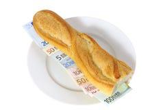 Euro del panino Fotografia Stock Libera da Diritti