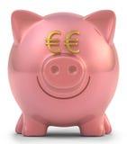 Euro del porcellino salvadanaio Fotografia Stock