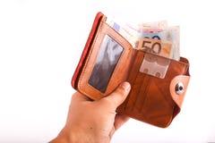 Euro del portafoglio Immagini Stock