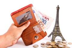 Euro del portafoglio dei turisti - Europa Fotografia Stock Libera da Diritti