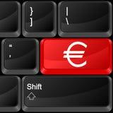 Euro del tasto del calcolatore Immagini Stock