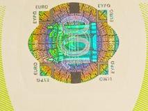 Euro dell'ologramma 100 Fotografia Stock