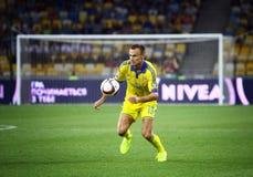 EURO dell'UEFA 2016 giochi di qualificazione Ucraina contro la Slovacchia Fotografia Stock Libera da Diritti