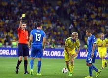 EURO dell'UEFA 2016 giochi di qualificazione Ucraina contro la Slovacchia Immagine Stock Libera da Diritti