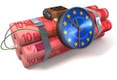 Euro della bomba a orologeria Fotografie Stock
