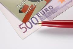 Euro della carta di credito Fotografia Stock Libera da Diritti