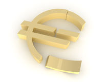 Euro demoliert Stockfotografie