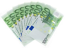 Euro denominations Stock Images