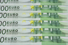 Euro denominations Royalty Free Stock Photos