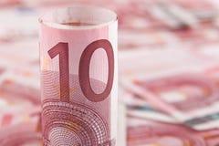Euro des Hintergrundes 10 Stockfotos