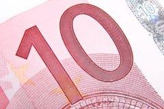 Euro des Makro 10 Stockfoto