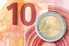 Euro deux Photos libres de droits