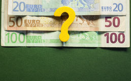 Euro Devaluation Stock Image