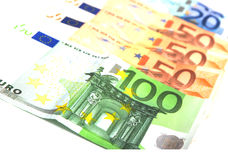 Euro di carta Immagine Stock Libera da Diritti