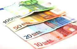 Euro di carta Fotografia Stock