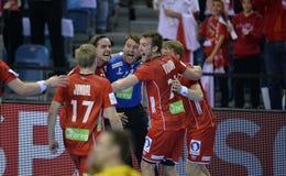 EURO di EHF Francia 2016 Norvegia Fotografie Stock