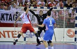 EURO di EHF Polonia 2016 Croazia Fotografie Stock Libere da Diritti