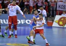 EURO di EHF Polonia 2016 Croazia Fotografia Stock Libera da Diritti