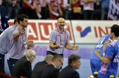 EURO di EHF Polonia 2016 Croazia Fotografie Stock