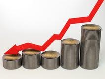 Euro di svalutazione Fotografie Stock