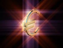 Euro di valuta di simbolo Immagine Stock Libera da Diritti