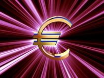 Euro di valuta di simbolo Fotografia Stock Libera da Diritti