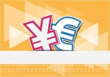 Euro di yuan di scambio di soldi del fondo Illustrazione Vettoriale