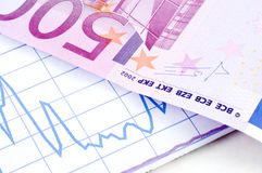 euro and diagram Royalty Free Stock Image
