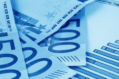 euro and diagram Stock Photos