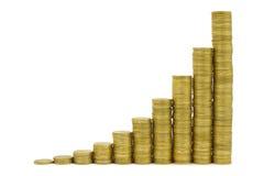 Euro diagramma Fotografia Stock
