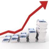 Euro diagramme d'argent Images libres de droits