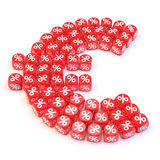 Euro dice. Group a percentage dice create a euro shape Royalty Free Stock Image