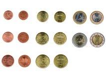 Euro die in de helft tegen oude achtergrond wordt gescheurd Royalty-vrije Stock Fotografie