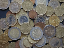 Euro die muntstukken door Litouwen worden vrijgegeven Stock Afbeelding