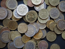 Euro die muntstukken door Litouwen worden vrijgegeven Stock Fotografie