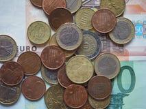 Euro die muntstukken door verschillende landen worden vrijgegeven Royalty-vrije Stock Afbeelding