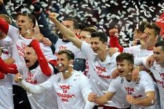 EURO 2016 die om Polen versus Rep kwalificeren van Ierland Royalty-vrije Stock Fotografie