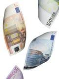 Euro die rekeningscollage op wit wordt geïsoleerd Royalty-vrije Stock Foto